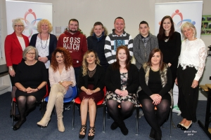Access 2000 QQI Level 4 Awards in Employment Skills in Westgate Computer Centre on Friday evening. Back; Mary Molloy, Ann Redmond, Damien Breen, Brian Browne. Adrian Cleary, Stephen Fenlon, Aoife O'Ruaraidh and Marian Donegan. Front; Margaret Cullen, Ricky Dunne, Natasha Brennan Kehoe, Samantha Sludds and Amy Banville.