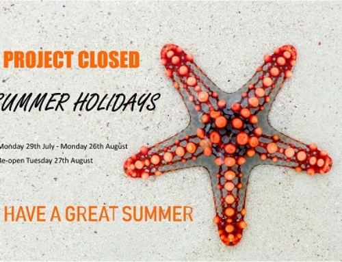 Project Closed for Summer Holidays