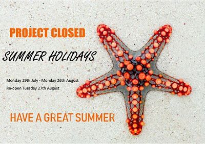 summer holidays project closed