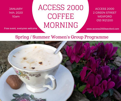 women's group programme coffee morning poster